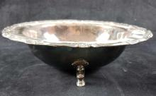 Lot 137: Vintage Footed Silverplate Bowl