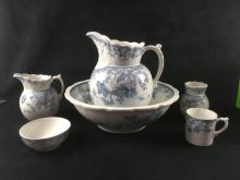 Lot 142: 6 Pieces Vintage English Semi Porcelain by Johnson Bros Marked