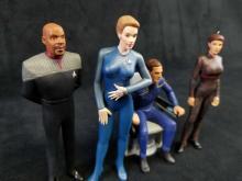 Lot 147: Set of 4 Hallmark Star Trek Figurine Ornament Collectibles