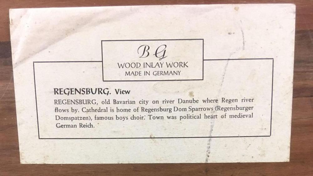 Lot 151: BG Wood Inlay Work Regensburg View