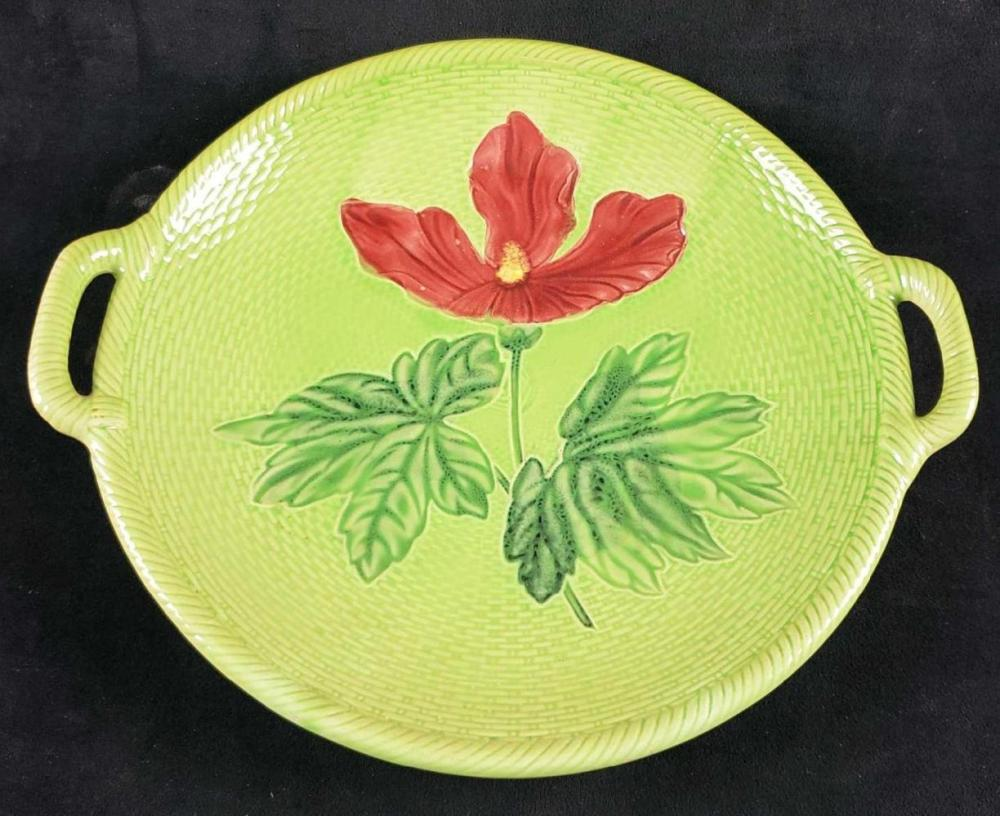 Lot 152: German Handled Flower Plate