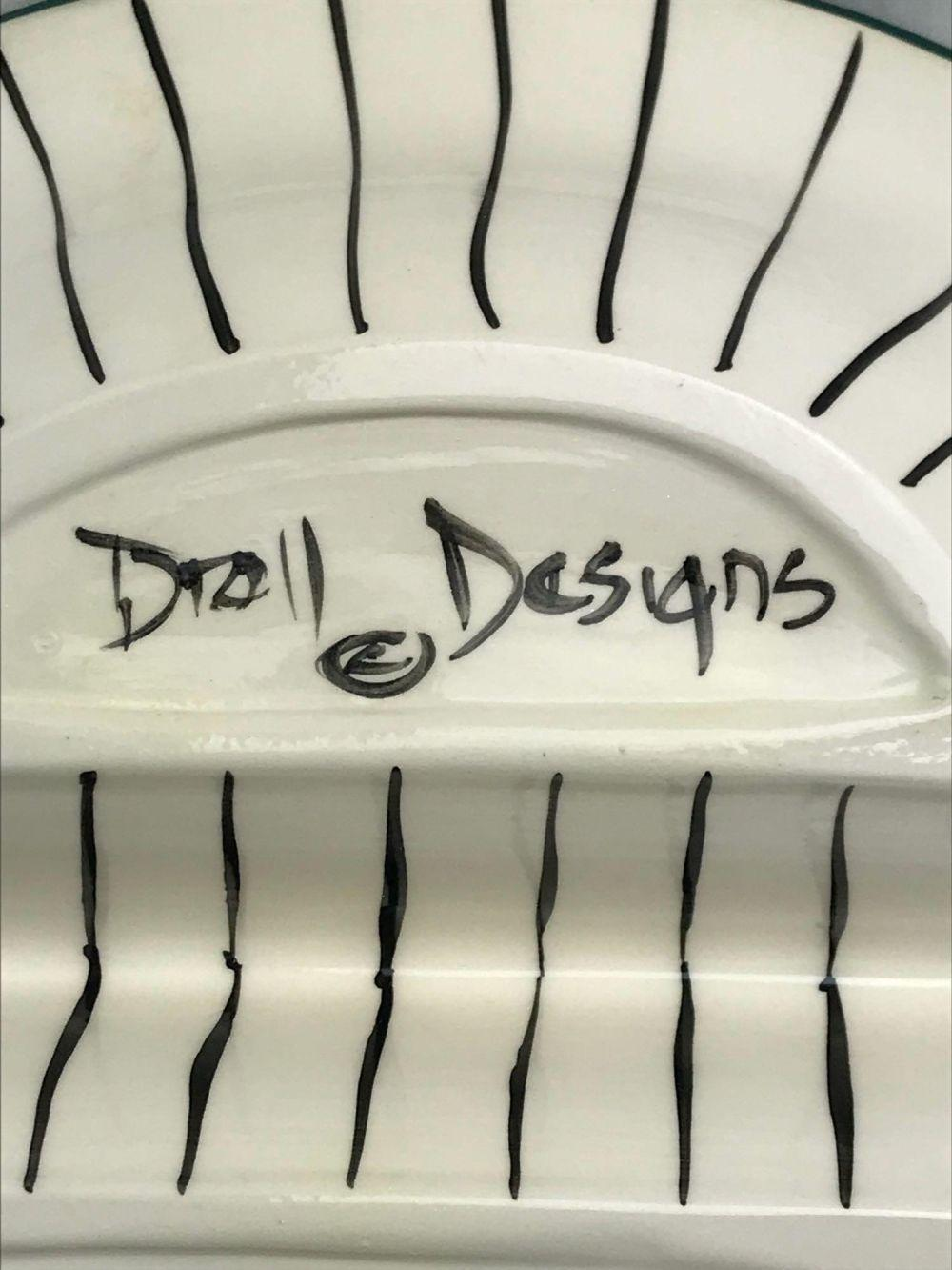 Lot 166: Droll Designs Double Serving Bowl, Marked