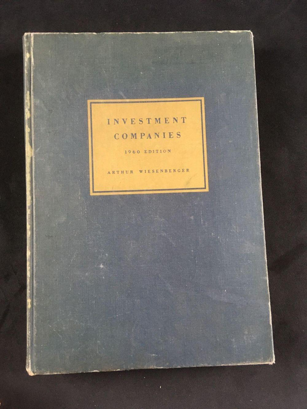 Vintage Book Investment Companies 1960 Edition