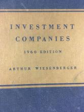 Lot 17: Vintage Book Investment Companies 1960 Edition