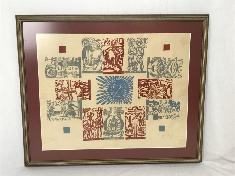 Lot 175: The Zodiac By Abram Krol