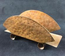 Lot 179: Modern Brass Napkin Holder