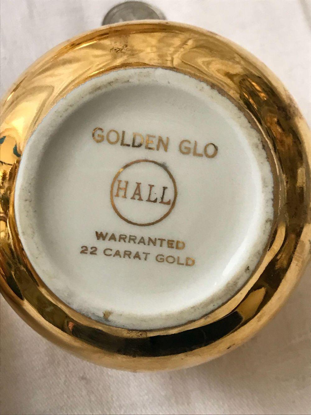 Lot 180: Vintage Golden Glo Hall 22 K Gold China
