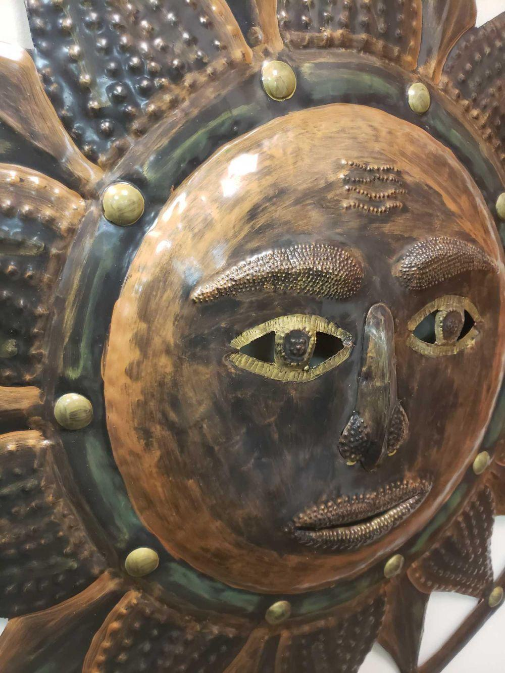 Lot 182: 40 Inch Bronzed Sun from Heritage Galerie