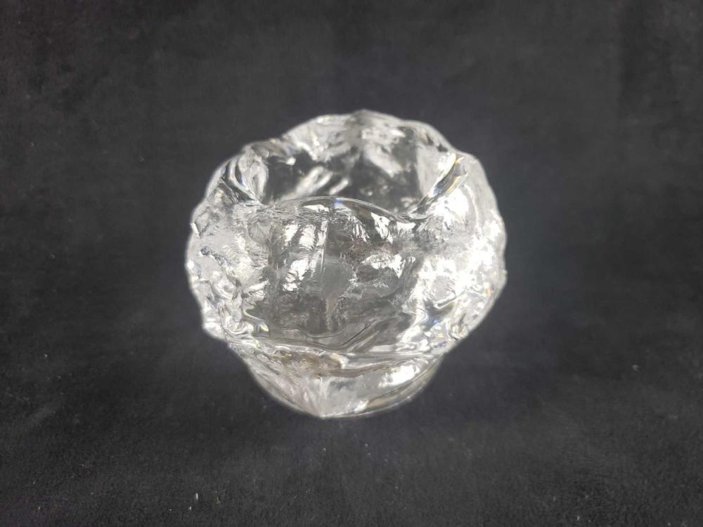 Lot 188: Mid Century Modern Crystal Candlestick Holder