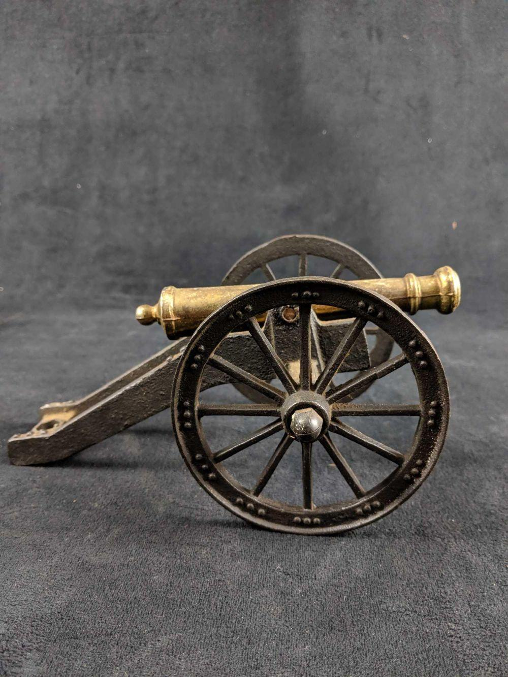 Lot 19: Vintage Metal Cannon Lot of 2