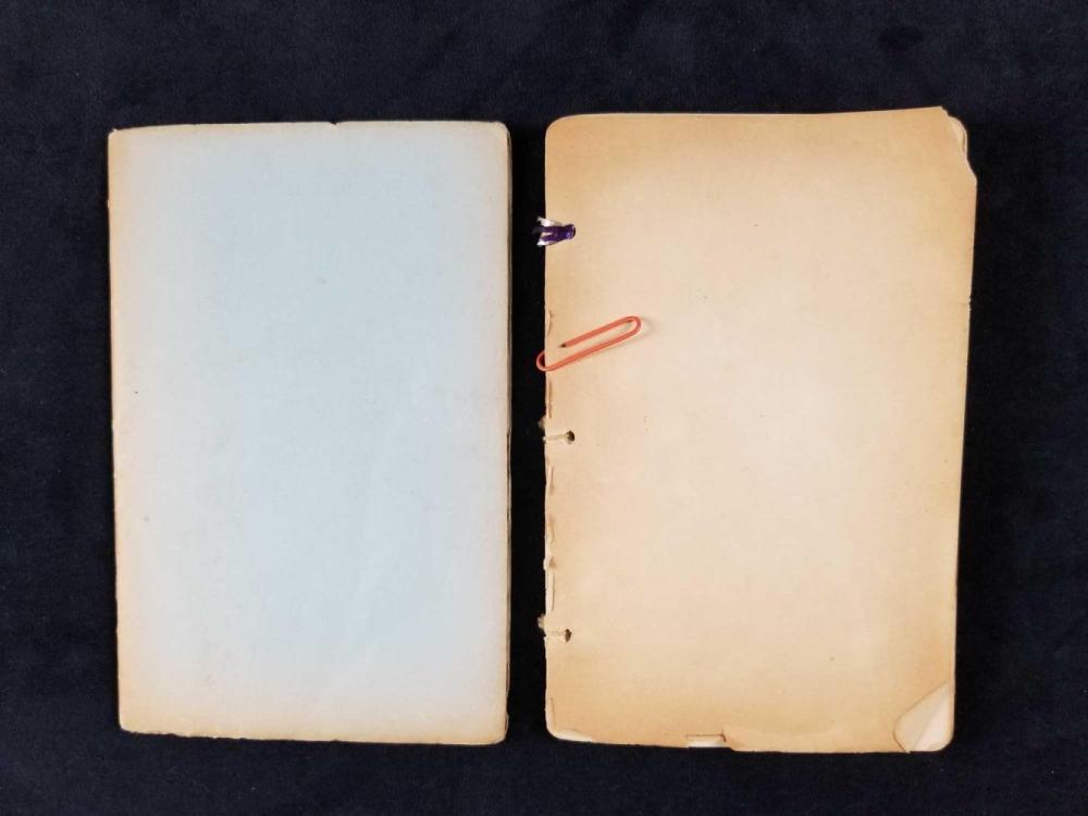 Lot 202: Lot of 2 Mid Century Manuscript Poem Books by Nayda Sherman