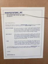 Lot 203: 2 Framed Manifestations Time Tunnel Optical Illusion Art Pieces
