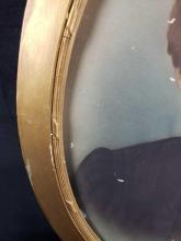 Lot 208: Antique Oval Bubble Frame Portrait