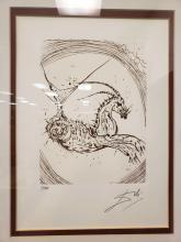 Lot 21: Salvador Dali Capricorn Etching from The Zodiac Suite