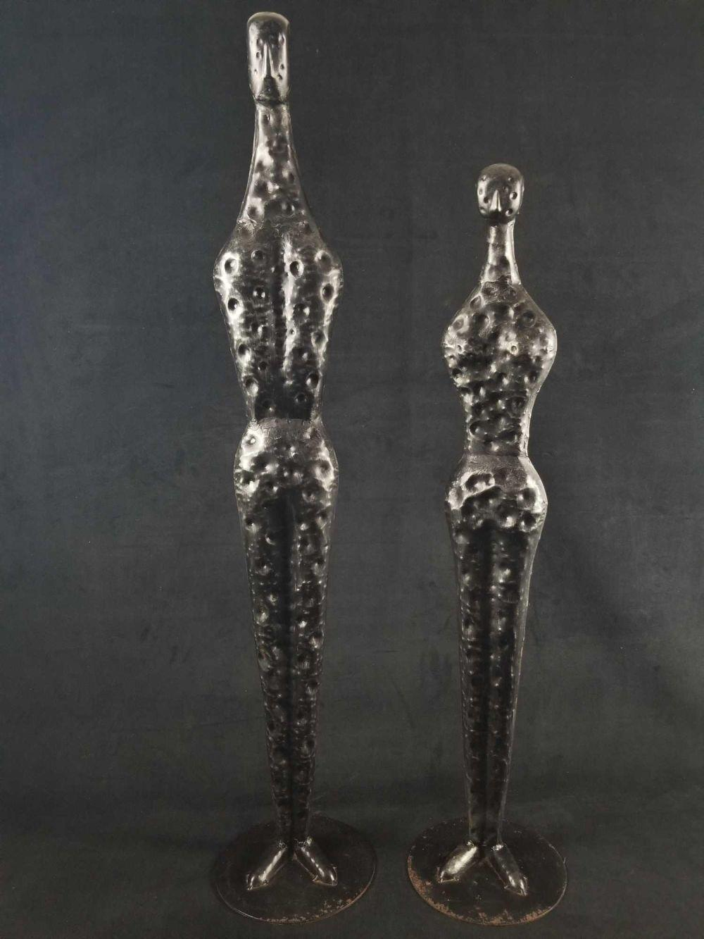 Lot 216: Set of 2 Contemporary Abstract Silhouette Sculptures