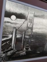 Lot 218: San Francisco Golden Gate Bridge Impressed Metallic Art by Manifestations