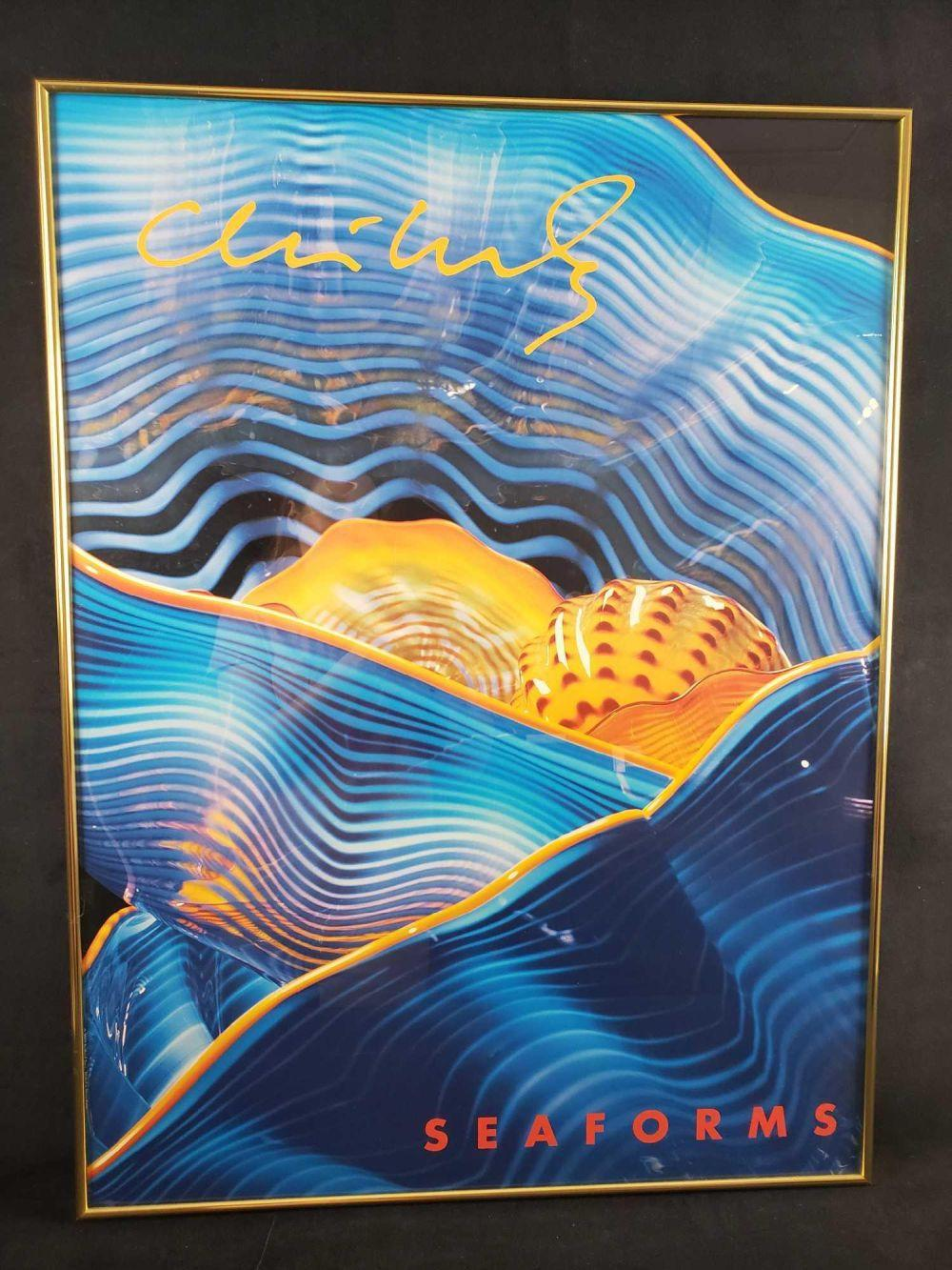 Lot 217: Chihuly Seaforms Framed Poster