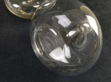 Lot 22: Pair of Mid Century Design Hand Blown Glass Decanters