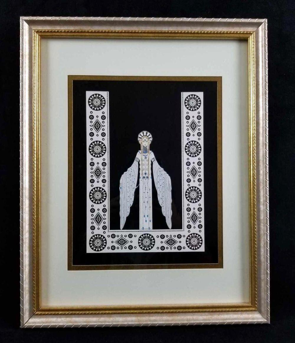 Lot 220: Erte 1987 Byzantine Empire Wall Art Deco Framed Print