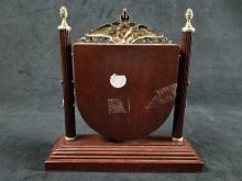 Lot 225: Wooden Mantel Clock from the Philippines