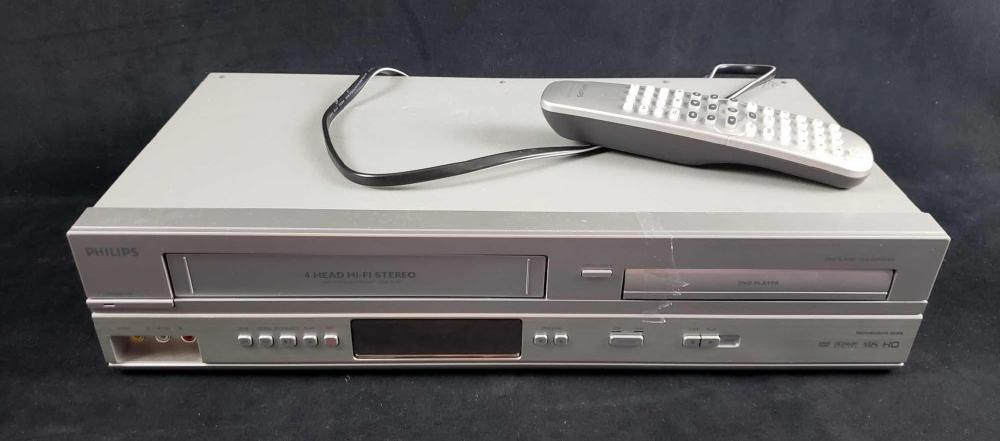 Lot 224: Phillips Vintage DVD and VCR Player