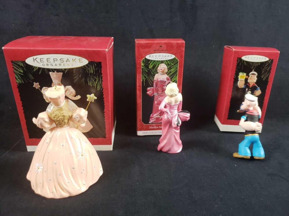 Lot 227: Lot of 3 Classic Movies and TV Hallmark Keepsake Ornaments