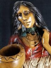 Lot 226: Large Native American Indian Sculptures