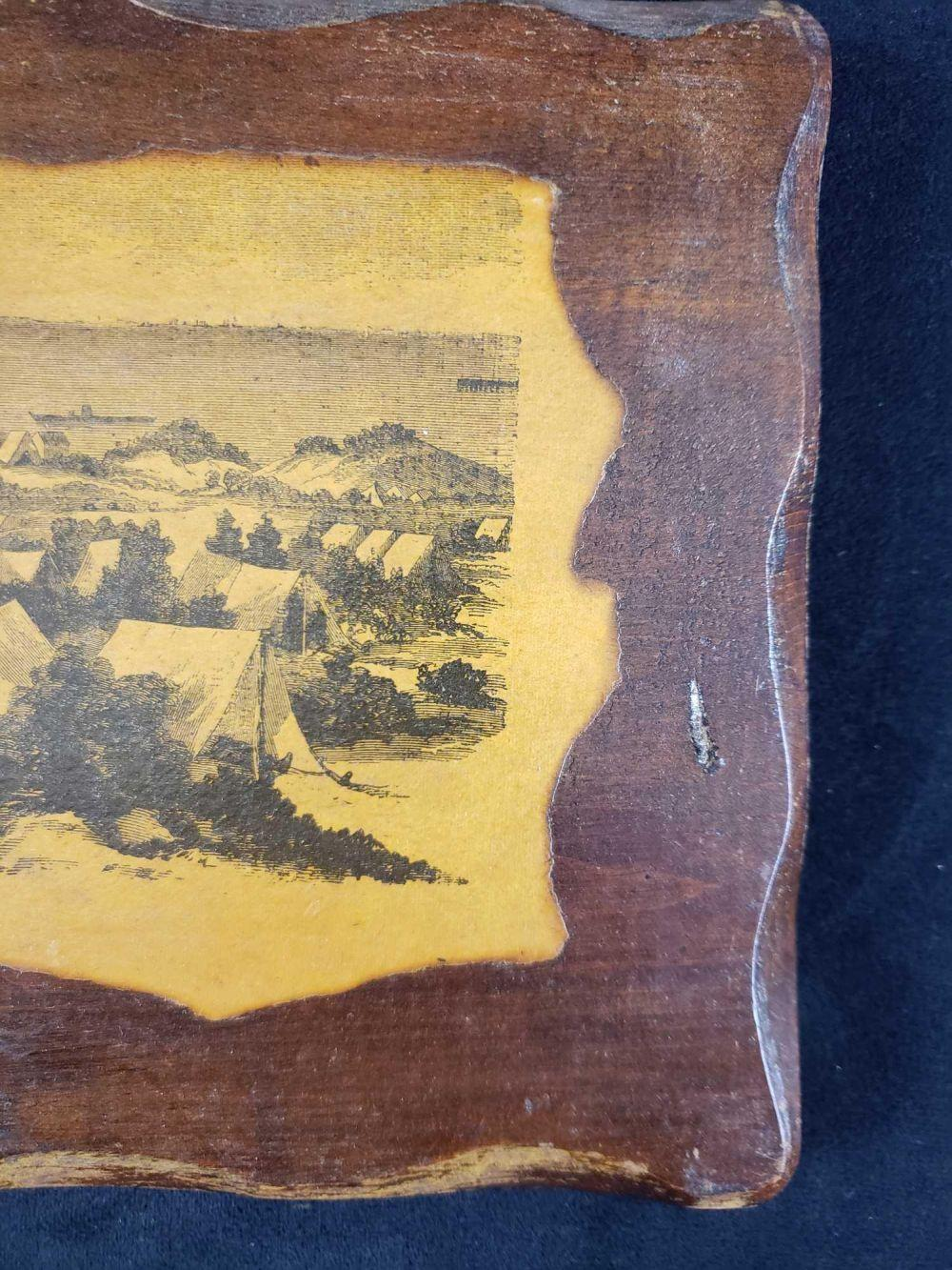 Lot 233: Civil War Decoupage Wall Art General Grangers Army in the Rear of Fort Morgan