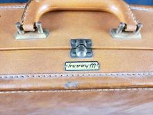 Lot 236: Vintage Wheary Leader Leather Suitcase Luggage