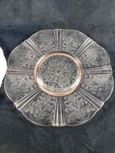 Lot 234: Lot of 4 Milk Glass and Pink Depression Glass Plates and Footed Bowls