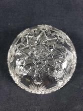 Lot 240: Lot of 2 Cut Crystal Candy or Nut Bowls with Butterfly Design