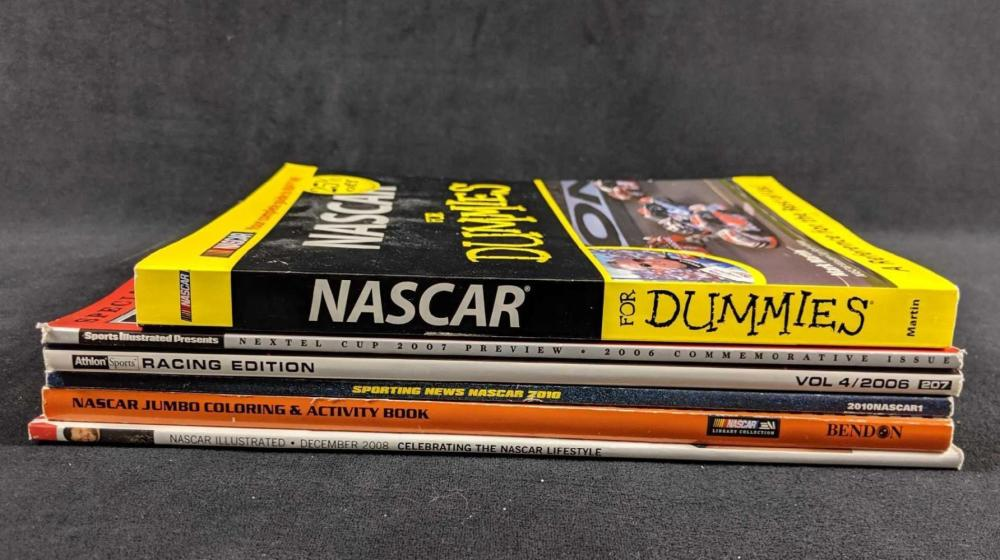 Lot 242: Assorted Tony Stewart Racing Magazines And Books Lot of 6