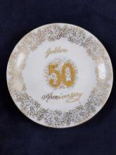 Lot 248: Norcrest Fine China 50th Anniversary Teacup and saucer set