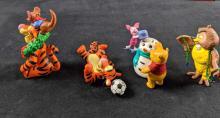 Lot 249: Lot Of Four Winnie The Pooh Hallmark Keepskae Ornaments Retired