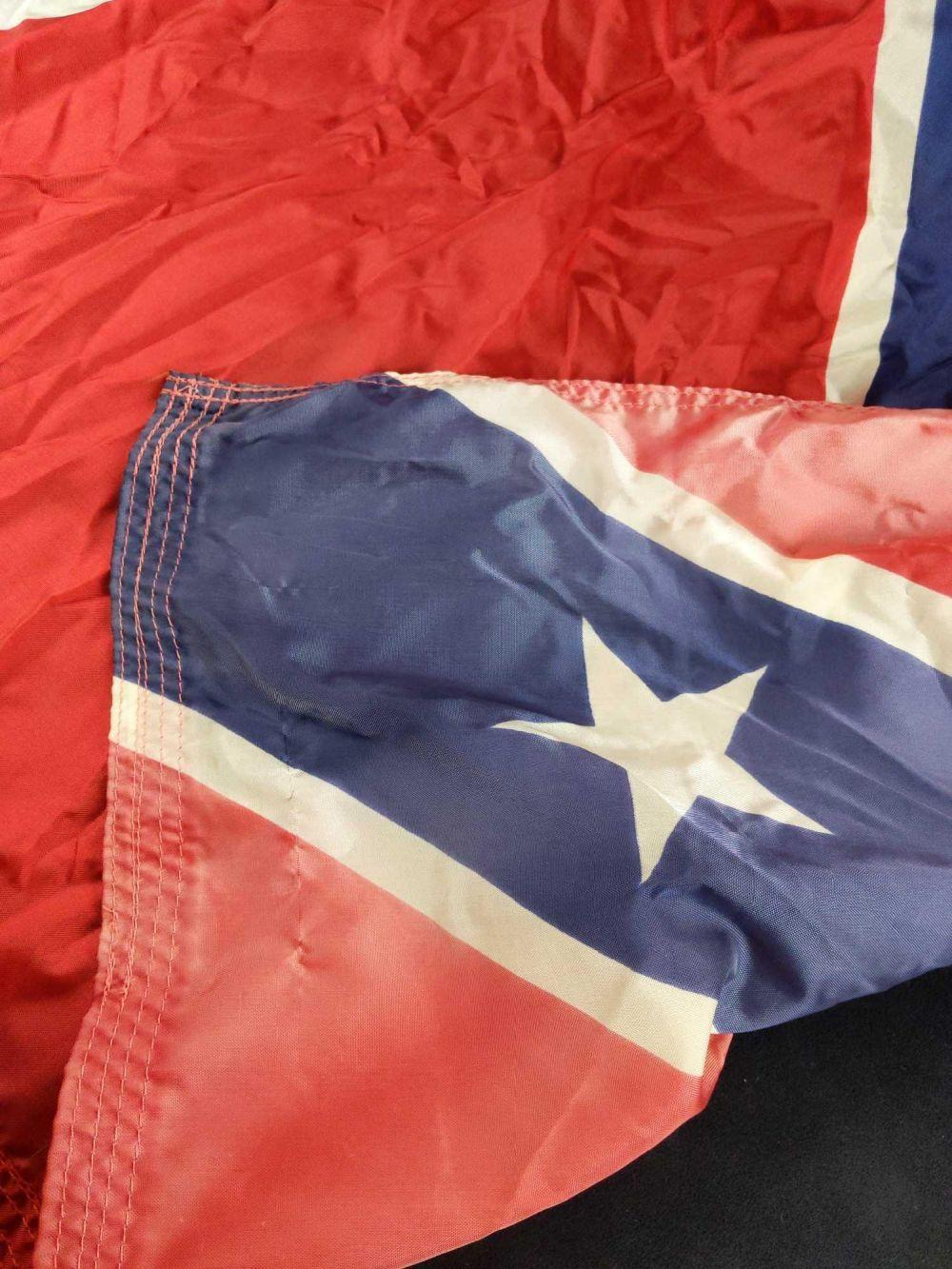 Lot 260: Vintage US Rebel Southern Cross Nylon Flag