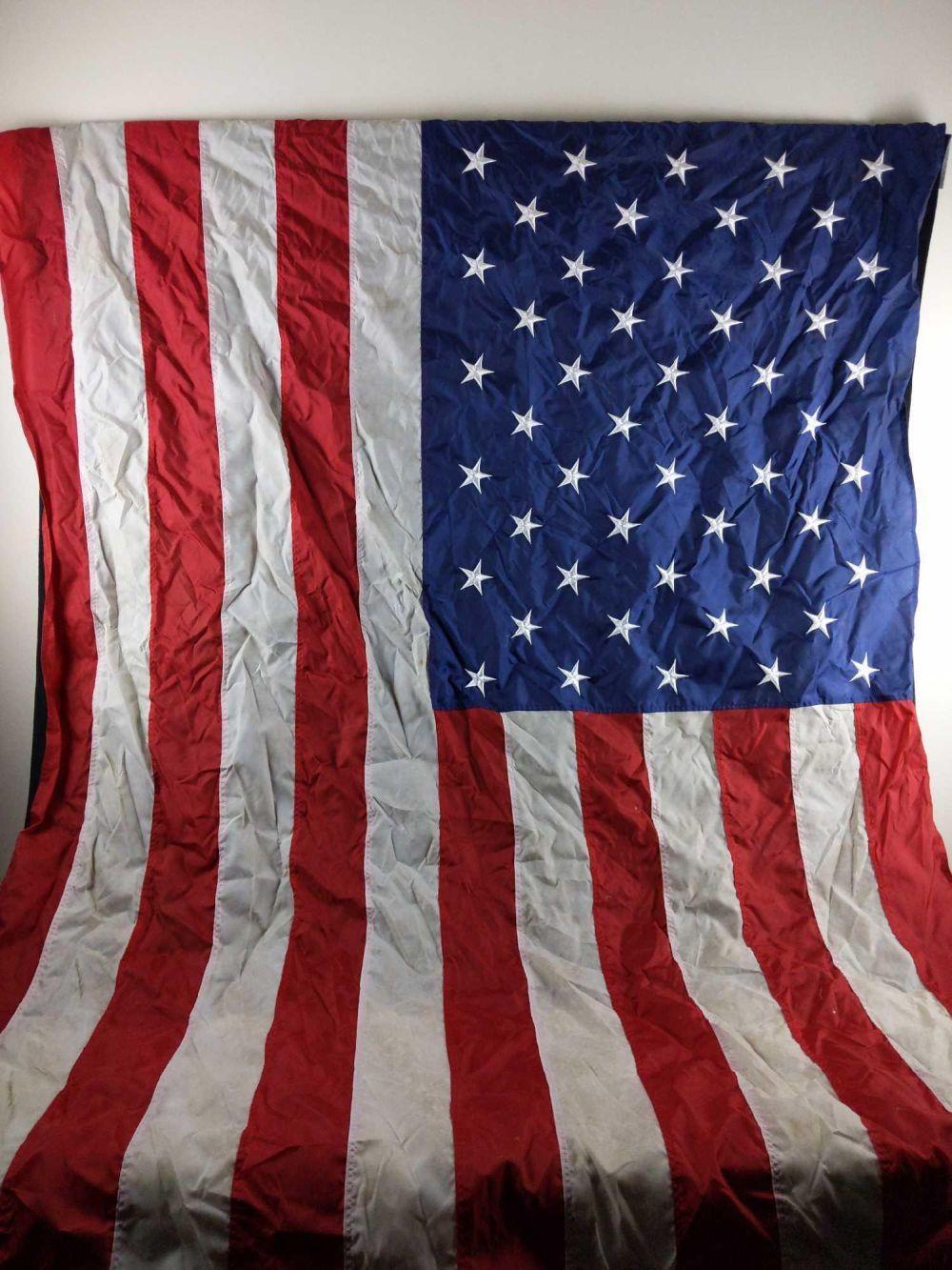 Lot 262: United States of America Nylon Embroideredd Flag