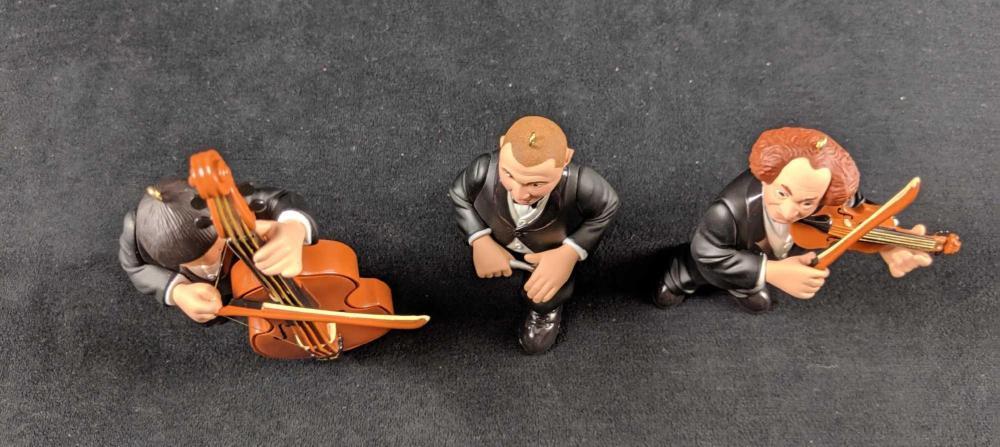 Lot 259: Hallmark Keepsake Ornament The Three Stooges Musicians 1998 Retired