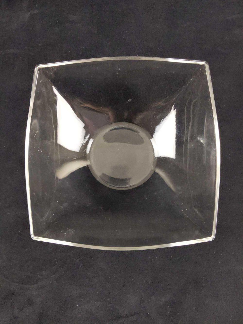 Lot 265: Clear Glass Squared Candy Dish