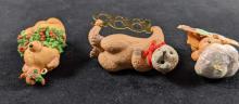 Lot 263: Set Of Three Cute Animal Ornaments Retired