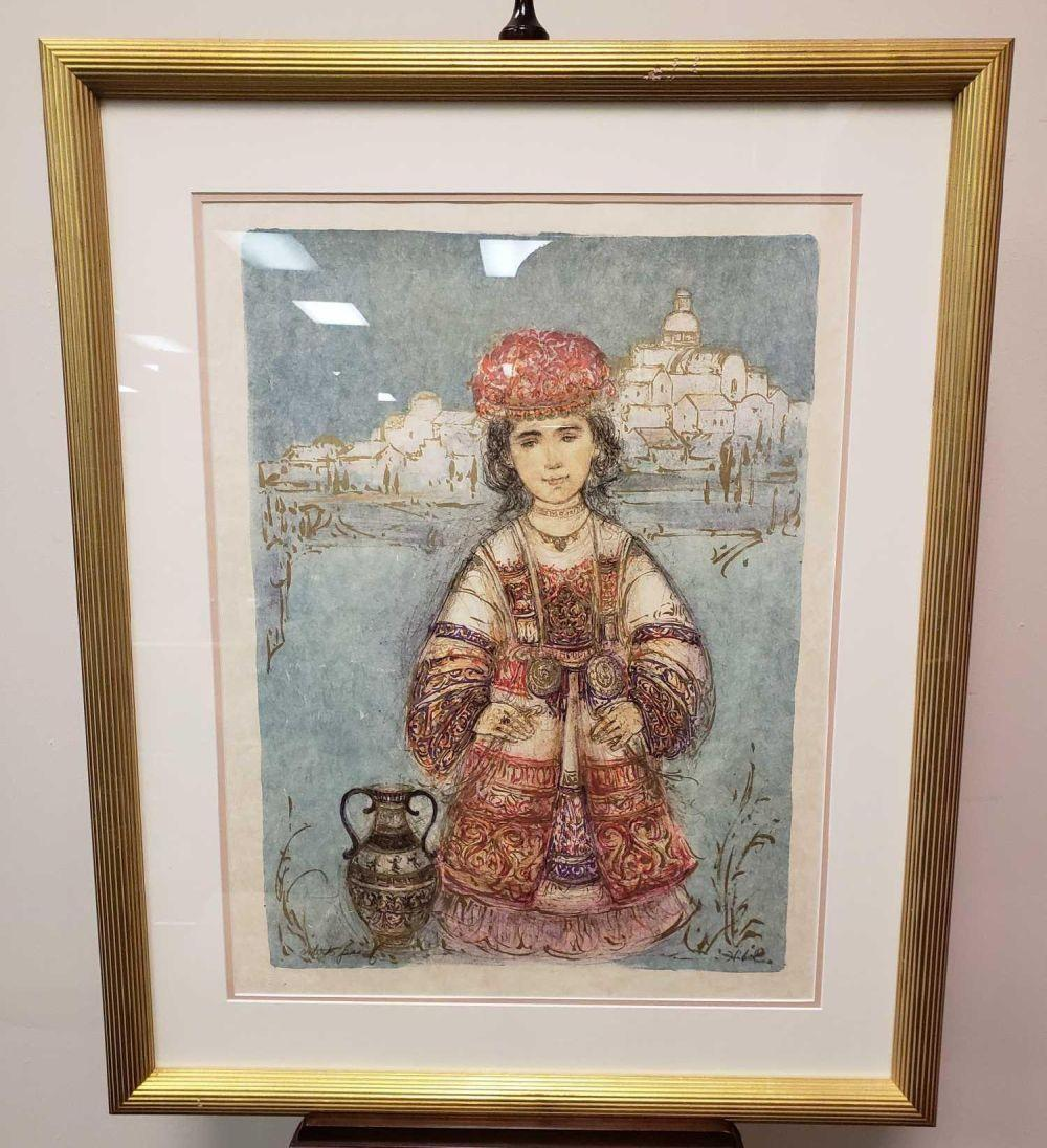 Lot 27: Edna Hibel Signed Framed Lithograph
