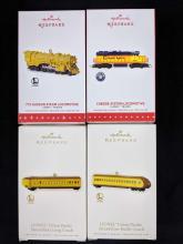 Lot 274: Lot of 4 Lionel Train Ornaments By Hallmark Keepsake
