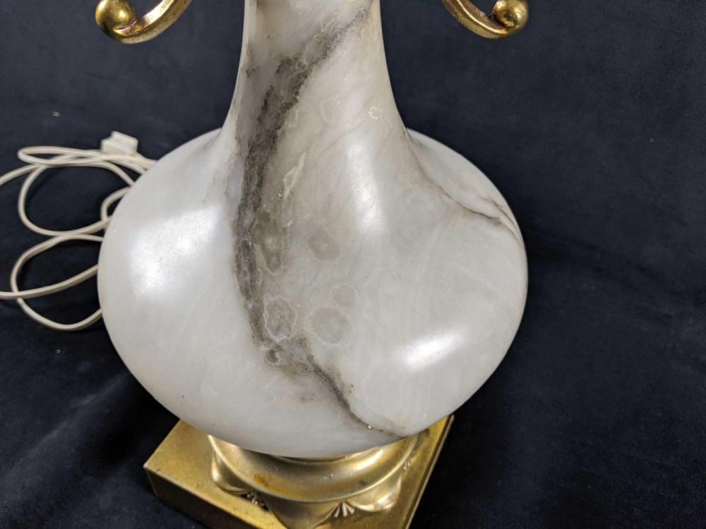 Lot 277: Retro Marble Table Lamp