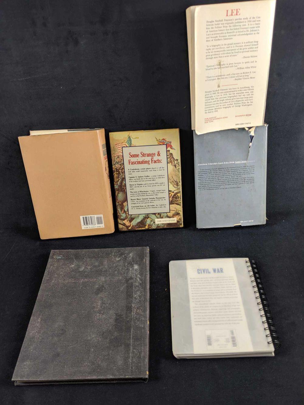 Lot 282: Lot Of Six Civil War Books And Calendar