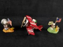 Lot 291: Hallmark Keepsake Snoopy Christmas Ornaments Lot of 3