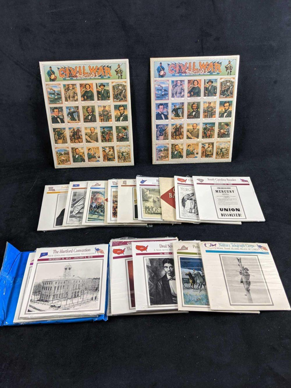 Lot 292: Civil War Stamps And Trivia Booklets