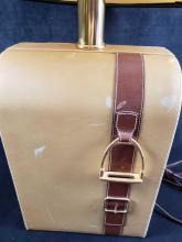 Lot 295: Gucci Designer Equestrian Lamp