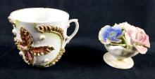 Lot 297: Lot of 2 Vintage Delicate Ceramic Items