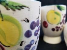 Lot 3: 6 Del Coronado Nasco Japan Hand Painted Fruit Porcelain Cups