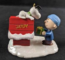 Lot 300: Charlie Brown Christmas CD and Hallmark Keepsake Ornament Lot