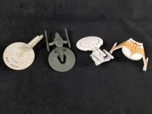 Lot 301: Star Trek Hollmark Keepsake Christmas Ornaments Lot of 4